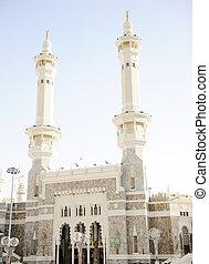 Makkah Kaaba minarets - Islamic Holy Place - series of the...