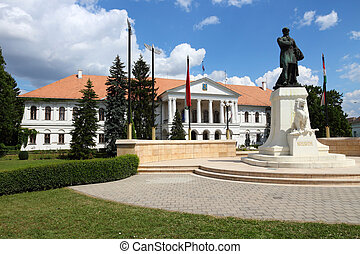 Mako, Hungary. Town in Csongrad county. Town Hall and...