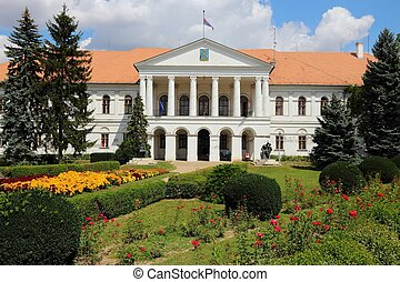 Mako, Hungary. Town in Csongrad county. Town Hall.