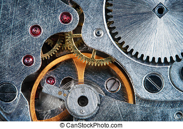 makro, iagttag, juvel, urværk, mekanisk, super