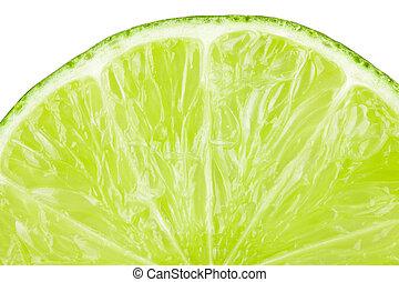 makro, lebensmittel, sammlung, -, limonellescheibe