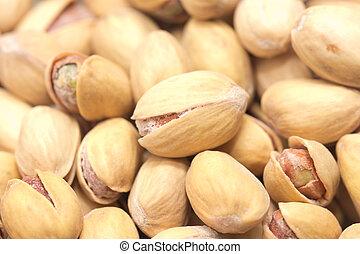 makro, pistachio., bakgrund