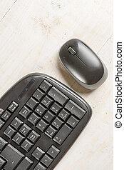 makro, radio, pc, schwarz, tastatur, closeup, maus