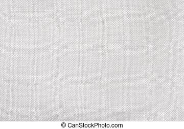 makro, weißes, leinen, hintergrund