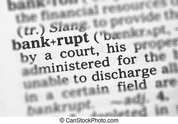 makro, wizerunek, od, słownik, definicja, od, bankrut