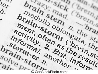 makro, wizerunek, od, słownik, definicja, od, brainstorm