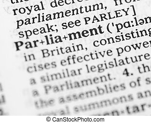 makro, wizerunek, od, słownik, definicja, od, parlament