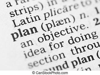 makro, wizerunek, od, słownik, definicja, od, plan