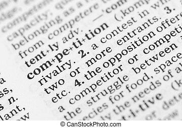 makro, wizerunek, od, słownik, definicja, od, współzawodnictwo