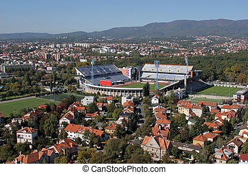 Maksimir stadium is official field for Dinamo football club