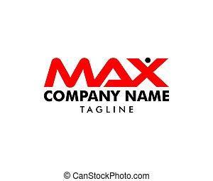 maksimum, początkowy, projektować, litera, logo