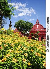 Malásia, histórico,  christ,  malacca, igreja