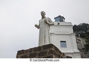 Malásia,  ST, Paul, Paul, usado, construído,  malacca, maio,  11,  ST,  -, período, Malásia, tempo,  1521, Português, aquilo, igreja,  façade,  2014, era, fortaleza,  11: