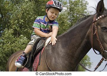 malý, jezdec