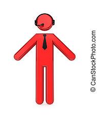 malý, osoba, sluchátka, 3