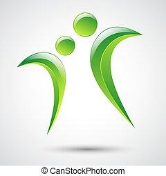 mal, abstract, logo, vector, figuren, menselijk