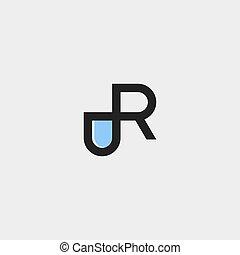 mal, brief, illustratie, logo, vector, capsule, ontwerp, pil, r