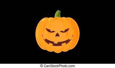 mal, citrouille, dessin animé, halloween, caractère
