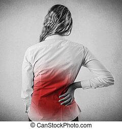 mal di schiena, donna