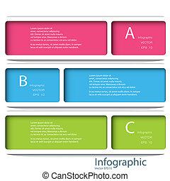 mal, eps, genummerde, gebruikt, lijnen, tien, infographics, ontwerp, /, vector, website, cutout, banieren, horizontaal, grafisch, moderne, zijn, opmaak, format., of, groenteblik