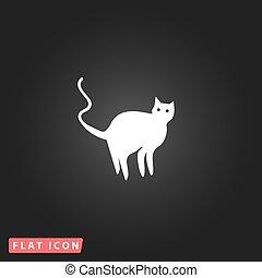 mal, gato, silueta