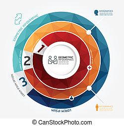 mal, geometrisch, genummerde, gebruikt, infographics, ontwerp, /, vector, website, banieren, infographic, grafisch, moderne, minimaal, stijl, zijn, opmaak, of, groenteblik