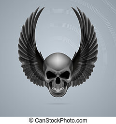 mal, haut, crâne, ailes