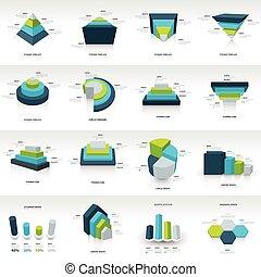 mal, infographic, meetkunde