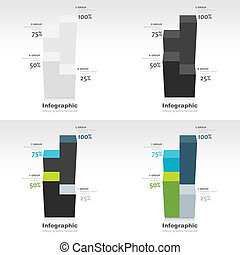 mal, infographic, stellen, 3d