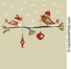mal, kerstmis kaart