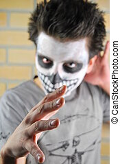 mal, olhar, e, mão, (carnival, portrait)