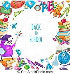 mal, poster, school, back