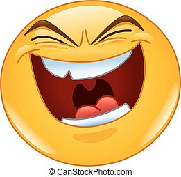mal, rire, emoticon