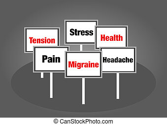 mal tête migraine, signes