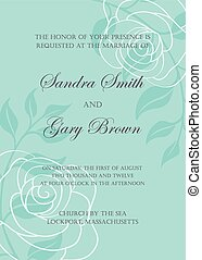 mal, uitnodiging, trouwfeest