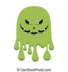 mal, verde, fantasma