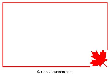 mal, vlag, grens, canadees, frame, ontwerp