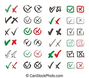 mal, vote, set., marques, non, formulaire, carrée, economic., politique, public, général, vecteur, positif, choisir, referendum., négatif, oui, couleur, heck, symboles, rosses, droit, rond, poll, contours