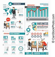 mal, zakelijk, werk, vector, wereld, infographic, ontwerp, concept