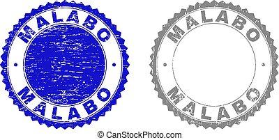 malabo, スタンプ, グランジ, textured
