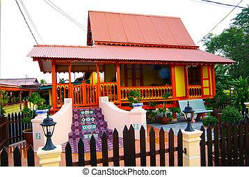 MALACCA, MALAYSIA - aug 4 : Traditional Malay House at...