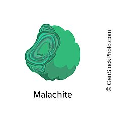 Malachite Copper Carbonate Hydroxid Mineral Vector -...