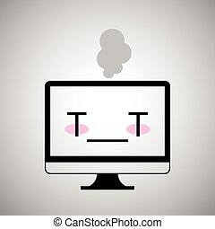 malade, icône ordinateur