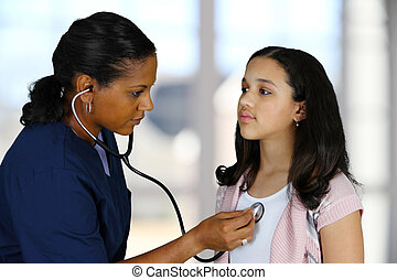 malade infirmière