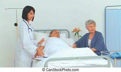 malade infirmière, visiter