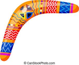 malade, isolé, style., arrière-plan., vecteur, boomerang,...
