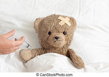 malade, teddy