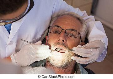 malades, dents, examiner, dentiste
