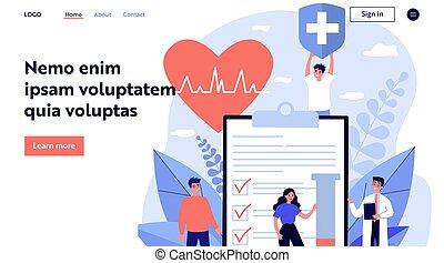 malades, docteur, assurance, publicité, santé