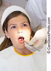 malades, examiner, cha, dentiste, dents, dentistes, pédiatrique